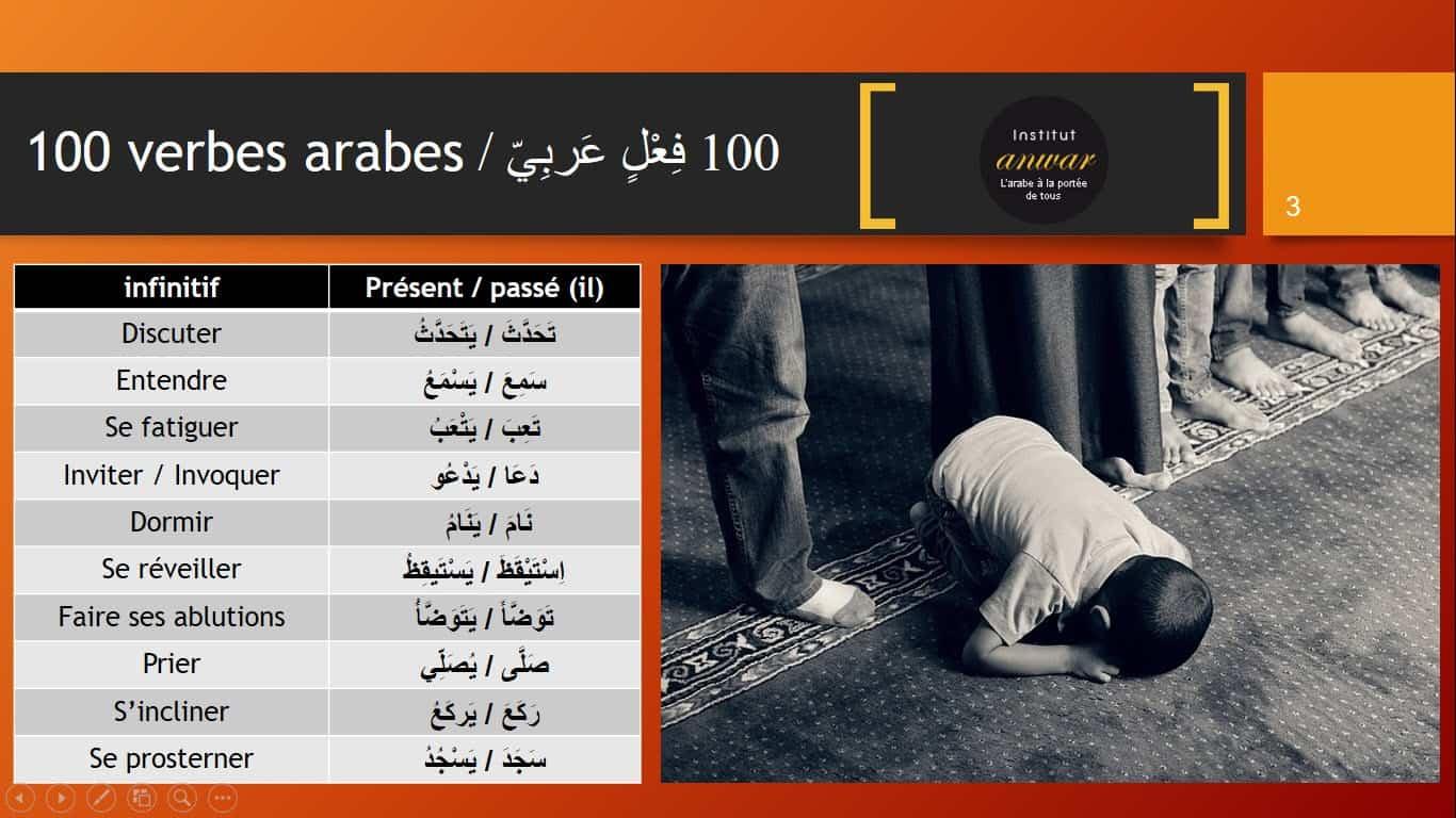 conjugaison arabe