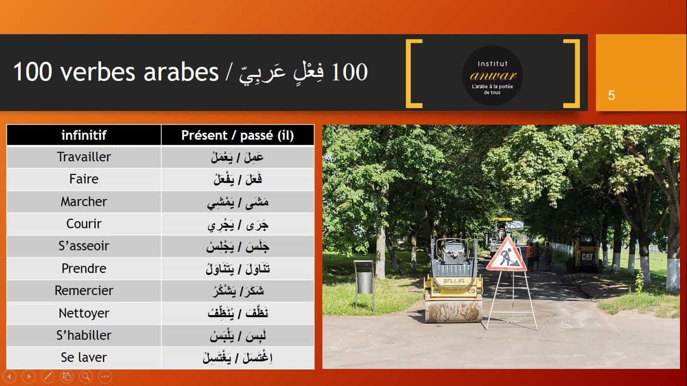 vocabulaire arabe audios
